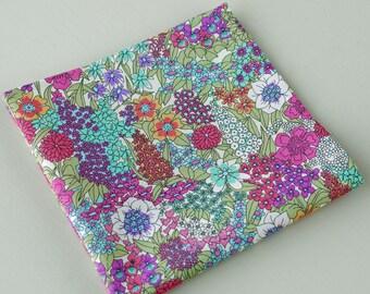 Mens floral Pocket Square - Liberty tana lawn Ciara A - bright floral pocket square - cotton handkerchief