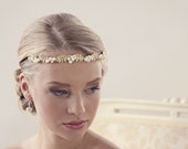 Wedding tiara Bridal headpiece gold leaf headpiece Bridal tiara Wedding headpieces Gold headpiece Hair accessories Tiara Grecian headpiece