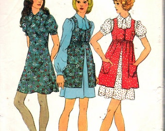 "Vintage 1971 Simplicity 9800 Mini-Dress & Smock Sewing Pattern Size 8 Bust 31 1/2"""