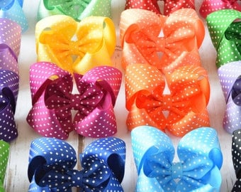 Hair Bows, Girls Hair Bows, Large Hair Bows, Big Hair Bows, 4 inch Hair Bows, Toddler Hair Bows, Hair Bows for Girls, 4 inch Bows, 400