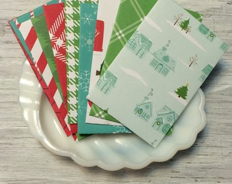 Gift card envelopes christmas holiday theme pack of 10