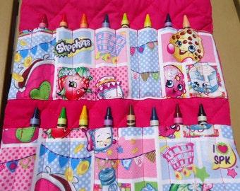 Shopkins Coloring/ Crayon and Activity Bag/Tote.