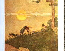 1914 W HEATH ROBINSON A MIDSUMMER Night's Dream Bottom Print Ideal for Framing