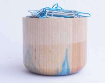 Small Wooden Canister, ICE limited line by wind and willow home, office, kitchen canister