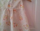 REDUCED: Vintage Inspired Handmade Floral Infant/Baby Dress