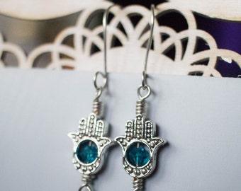 Crystal Fatima Earrings