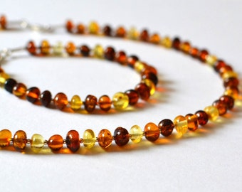 Baltic Amber Set Amber Necklace Amber Bracelet Natural Amber Jewelry