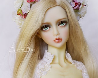 Pink Charm flower handmade headband wreath corolla for bjd dollfie sd 8-10 inch size dolls heads