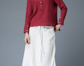 Linen pants women's pants white Women pants Elegant pants Girl's pants C841