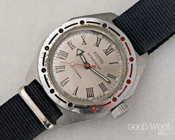 vintage russian watch - vostok amphibia - 1980's - 2409