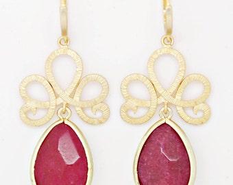 Delicate earrings - Ruby