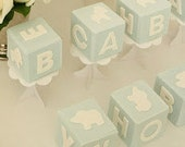 Fondant Baby Blocks *As seen on Layla Grace*