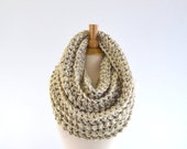 ON SALE Chunky Infinity Scarf //The Dresden // in Oatmeal