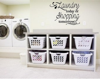 Laundry Room Wall Decal - Laundry Room Decor - Vinyl Wall Art Sticker