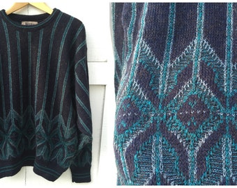 90's Jantzen Crewneck Jazz Sweater // Size Large