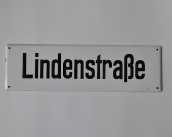 Genuine German Street Sign.  Enamel.  Authentic Vintage German.  Industrial.  Loft. 1213