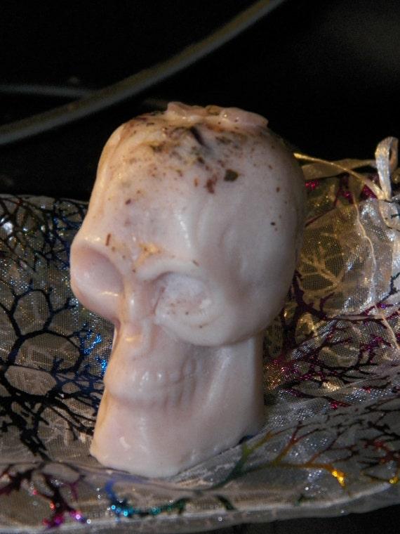 Wax Skull Love Mojo Skull Wax Figurine Poppet Statue Love Charm Offering