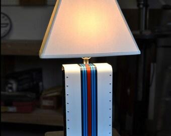 Martini Racing Riveted Sheet Metal Lamp