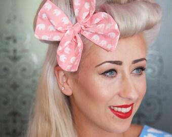 Large Pink Elephant Hair Bow