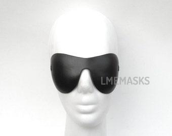 UNISEX Blindfold Mask Leather Black Adult Fantasy Role Play Mistress Masquerade Sexy Erotic Fetish Halloween Playboy Contemporary Eyewear