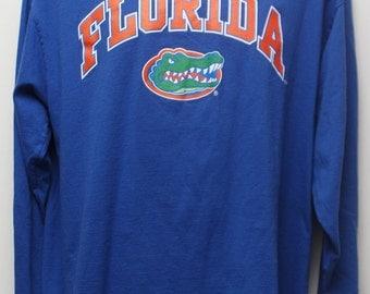 "90's Vintage ""FLORIDA GATORS"" Long Sleeve Tshirt Sz: LARGE (Men's Exclusive)"
