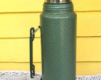 Vintage Stanley Aladdin Green Metal Thermos