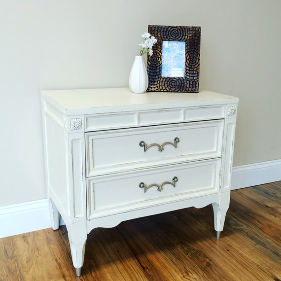 Small White Nightstand Fixer Upper Furniture American Of