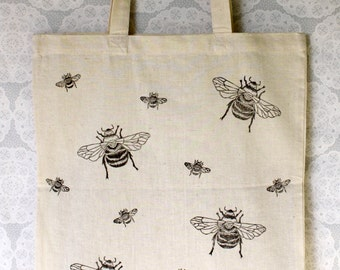 Bumble bee Tote Bag | 100% cotton | Eco friendly | Reusable shopper bag | Ethically produced | canvas bag |