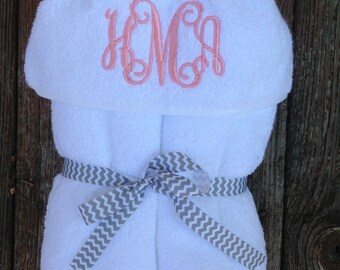Monogrammed Hooded Towel Personalized BabyGift