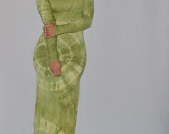 Apple Green Maxi Dress w/ Long Sleeves