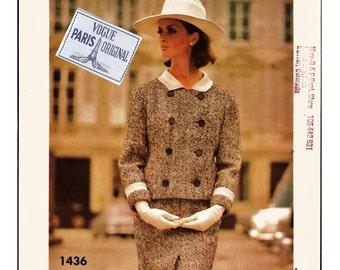60's Wonderful & RARE Vogue Paris Original Pattern 1436 w LaBeL Jacques Heim Tailored Suit Sz 12 Cut Complete Haute Couture Sewing Patterns