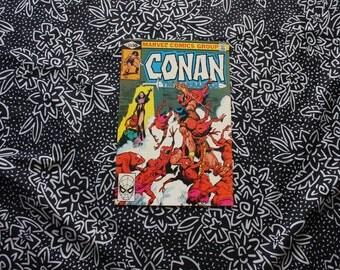 Conan The Barbarian #123 Vintage Marvel Comic Book. 1981 Barbarian Fantasy Bronze Age Comic. 80s Conan Barbarian Comic