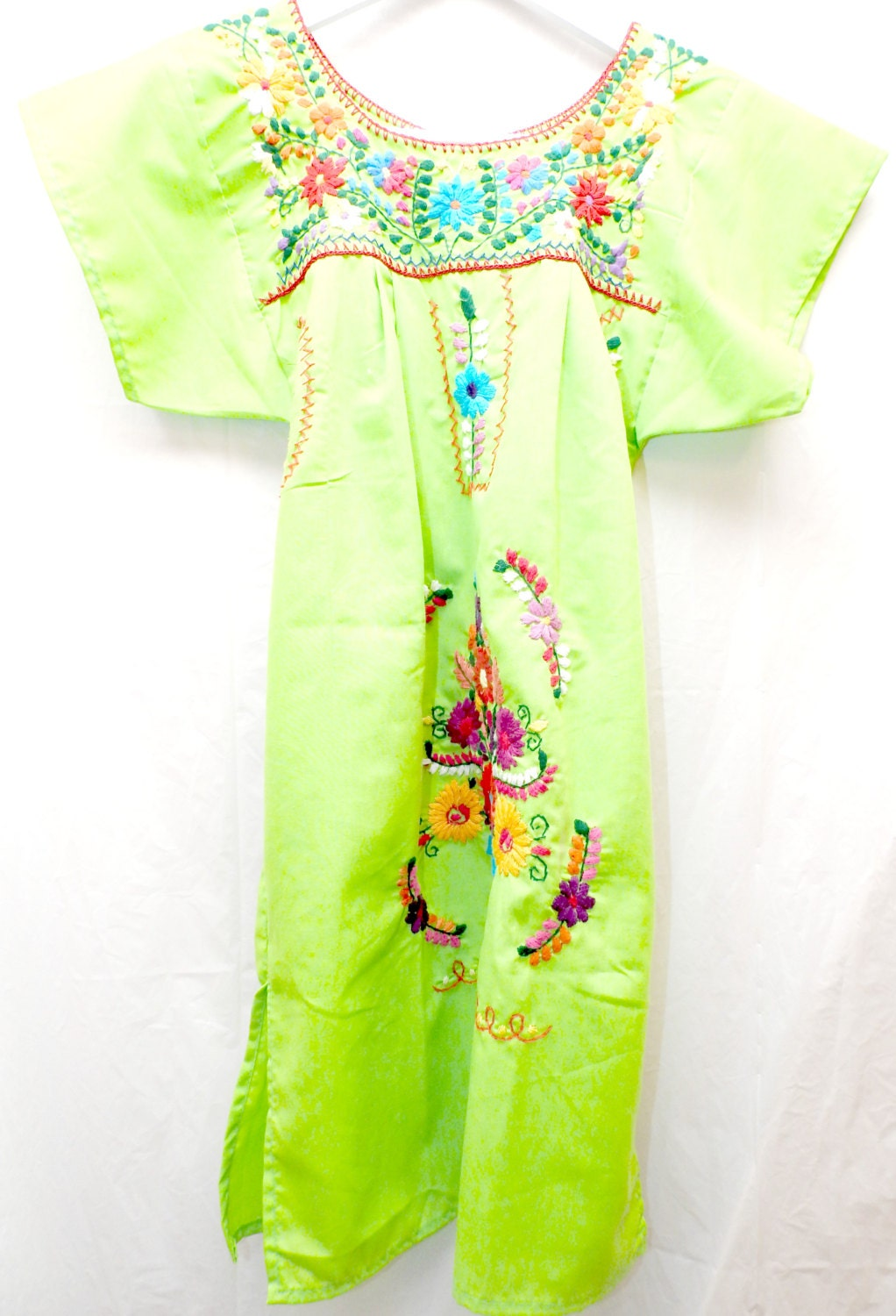Mexican embroidered clothing dress traditional