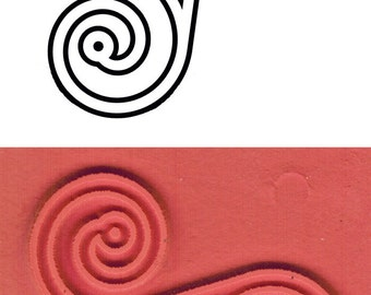 Celtic Trinity / Spiral of Life Design Stamp - Life-Birth-Death Spiral for PMC Ceramic Polymer Clay - Textile Stamp - ScrapBook Design Stamp