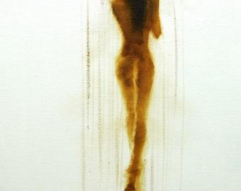 Nude Art Print, Naked Woman Print, Bedroom Wall Art Canvas Nude Giclee Print