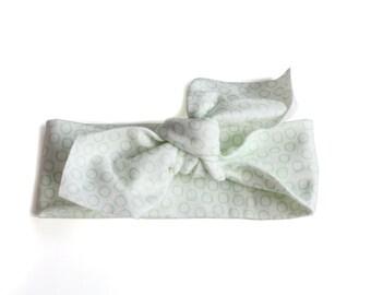SALE    Baby / Toddler Headband    Organic Cotton Headband    Bubbles Mint