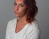 Yoga Headband - Running Headband - Stay Put No Slip Headband by Manda Bees - Fitness Workout Headband - BRICKS