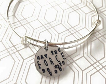May the Force be with you adjustable bangle bracelet