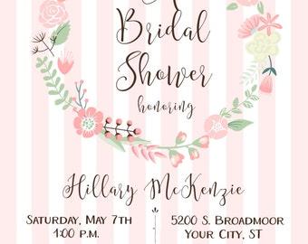 Bridal Wreath Shower Invitation