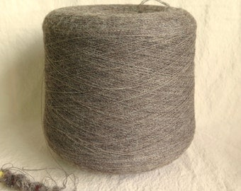 Shetland Supreme 1 ply Laceweight Wool Yarn in Grey 1 kilo cone by Jamieson & Smith