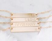 Gold bar necklace - 14k gold filled