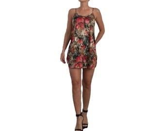 Floral and Cheetah Printed Swim Coverup/ Nighty with Open Criss Cross Back/ Pajamas/ Lingerie/ Flowers/ Cheetah Print/ Dress/ Silky