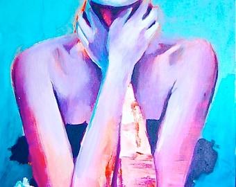 La Podorosa Day of the Dead Sugar Skull Dia De Los Muerto Giclee Canvas  Mexican Print Wall Art Colorful Abstract Pop Art