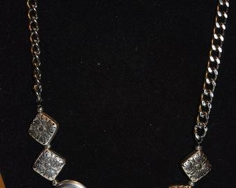 Silver chain pendants necklace