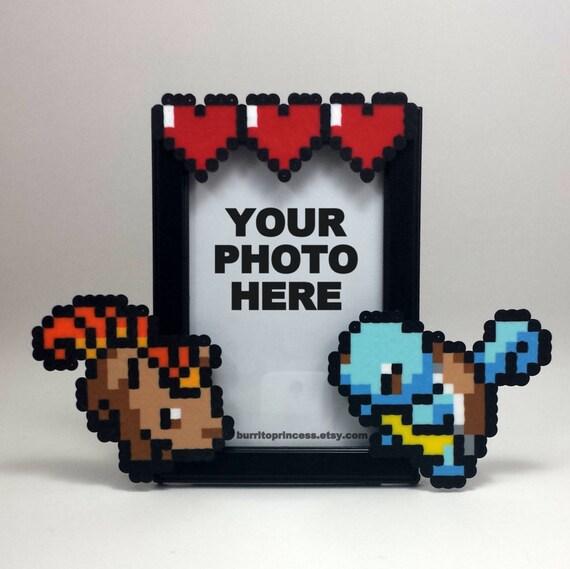 custom pokemon picture frame couples picture frame video game wedding gift pokemon wedding