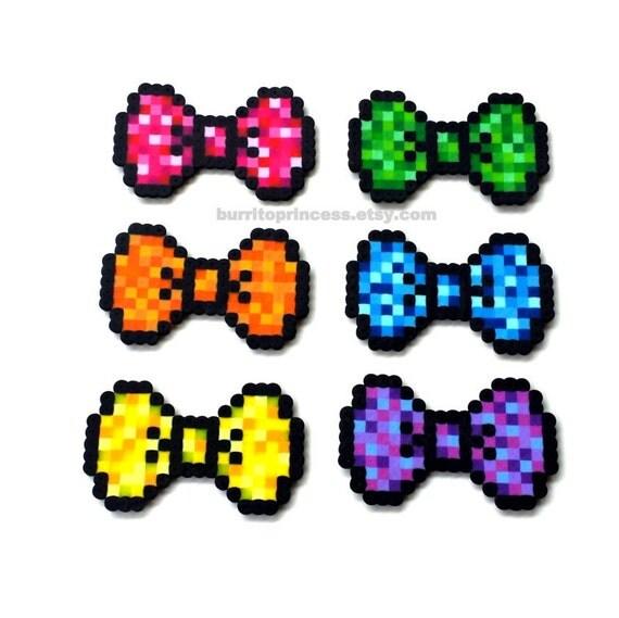 Pixel Hair Bows 8 Bit Hair Bows 8 Bit Bow Ties Pixel Bow