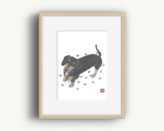 Dachshund Print, Sausage Dog Print, Dachshund Gift, Doxie Art, Dachshund Art