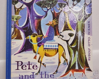 """Vintage 1962 First Edition of """"Pete and the Manger Men"""" by Rudolf Otto Wiemer Illustrations by Marie Marcks"""