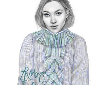 Mia fashion/portrait illustration