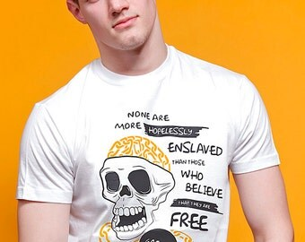 Goethe Quote Political T-shirt - Thought Criminal Collection by ALLRIOT. Free UK and US Shipping.